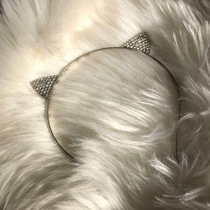 5 for 15! Rhinestone Cat Ear Headband